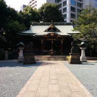 ㈰金王八幡神社の拝殿(正面)