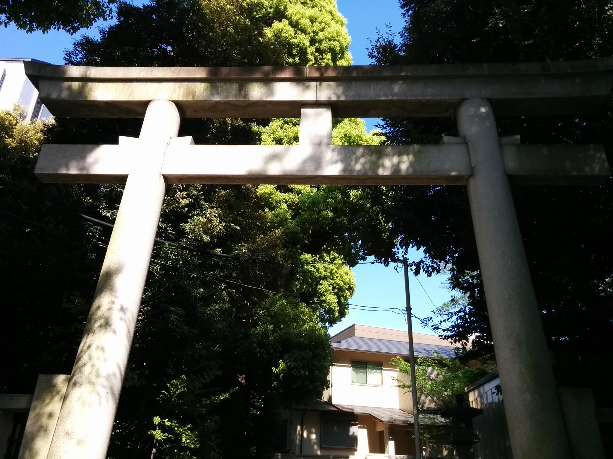渋谷氷川神社(拝殿への鳥居)