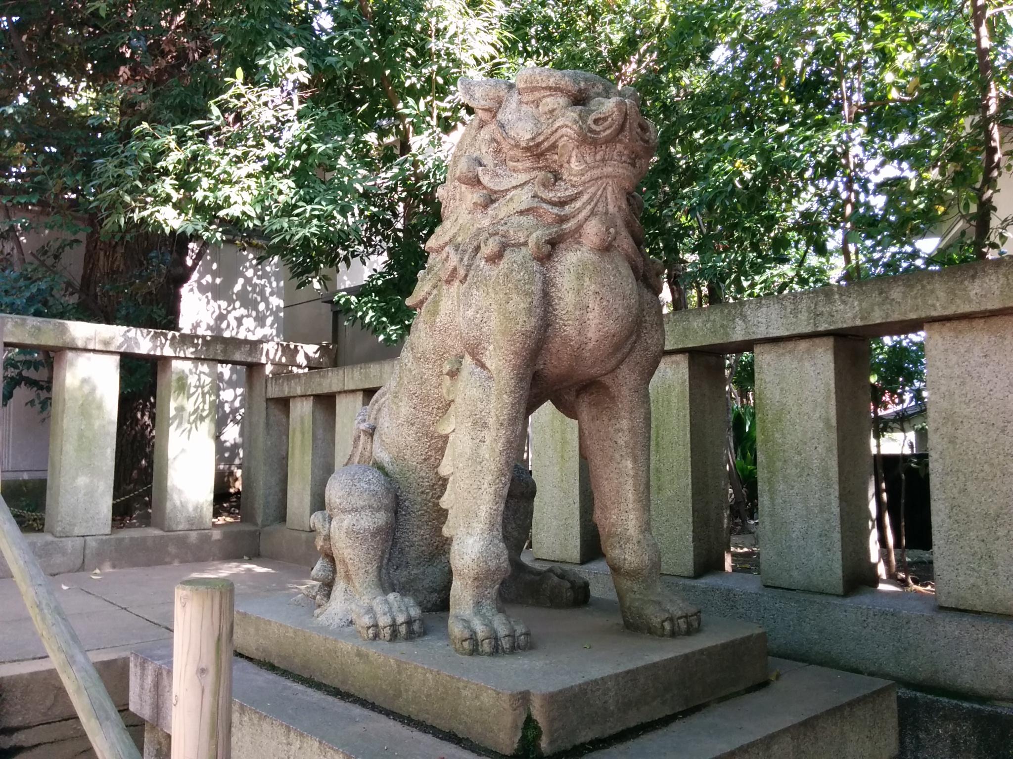 渋谷氷川神社(狛犬うん)